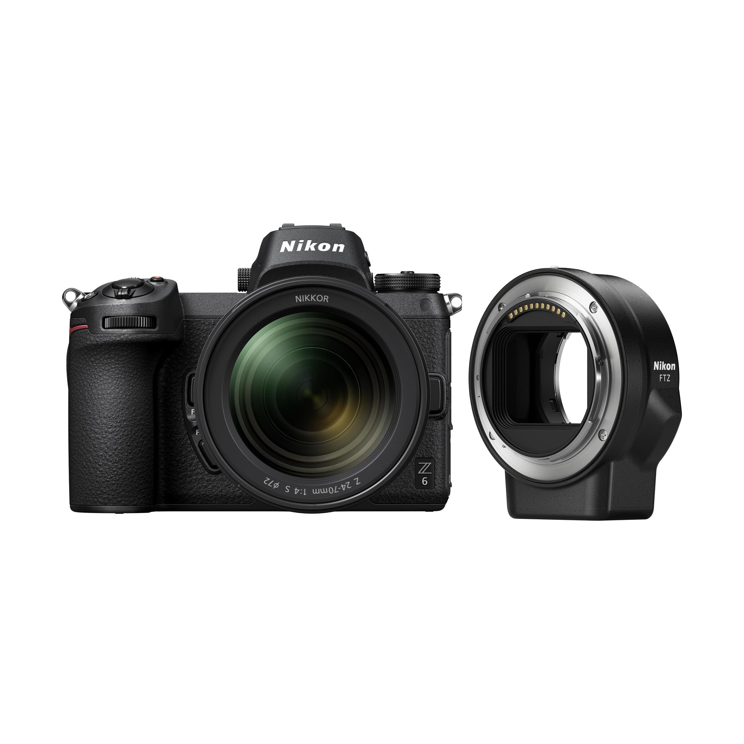 Nikon Z 6 + Z 24-70mm f/4,0 S + Bajonett Adapter FTZ Kit