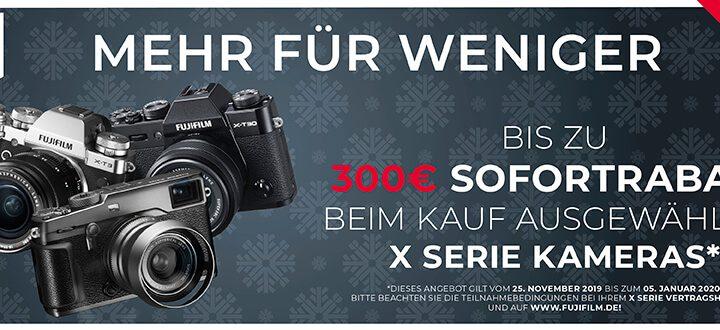 Fujifilm X-Serie Sofortrabatt