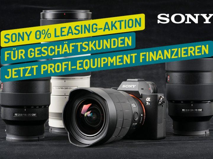 Sony 0% Pro Leasing Aktion