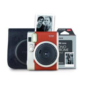 Fujifilm instax mini 90 Neo Classic Sofortbildkamera Retro Set : Braun