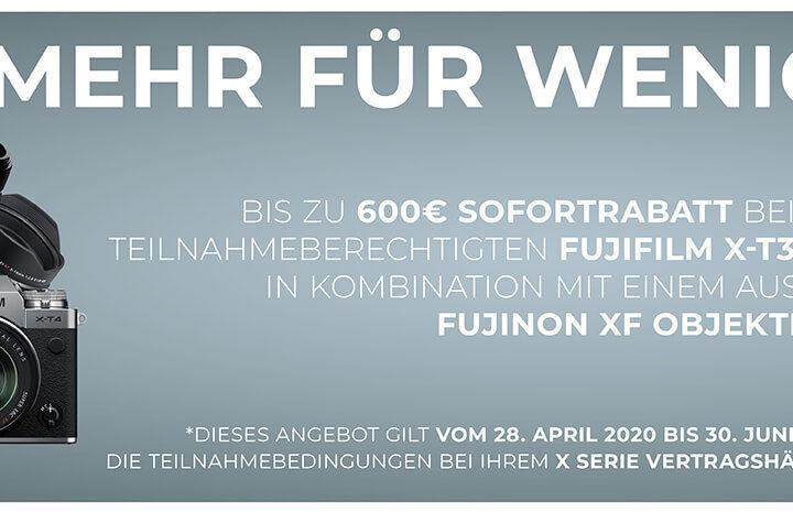 Fujifilm X-T3 / X-T4 Sofortrabatt