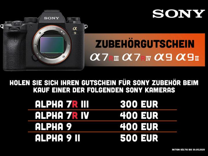 Sony Zubehörgutschein Mai 2020