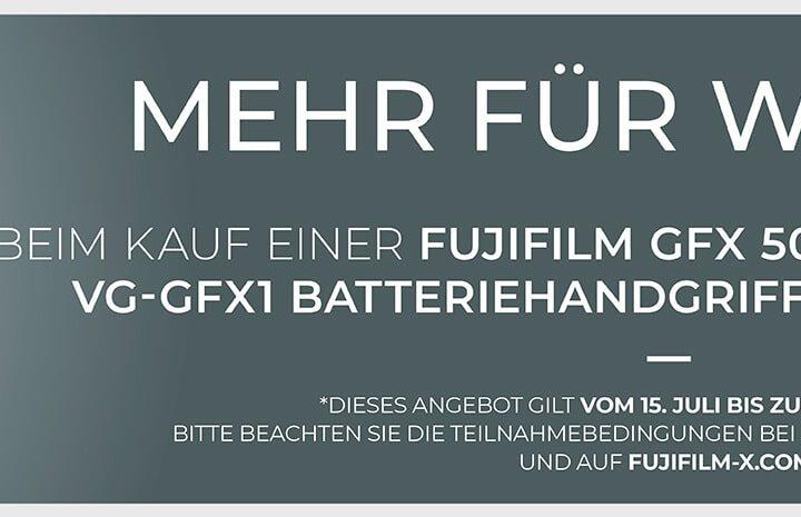 Fujifilm GFX50s Handgriff Aktion
