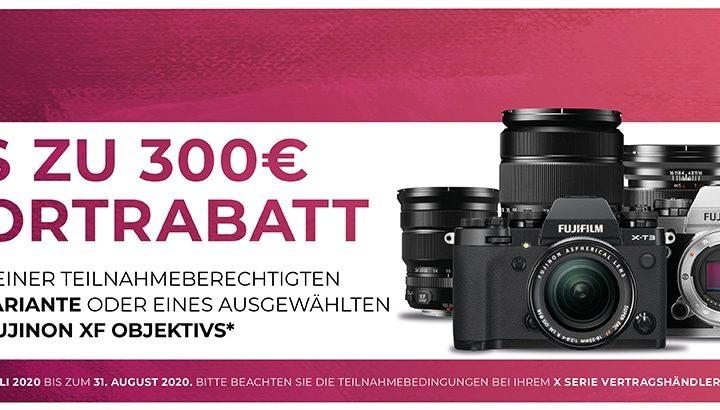 Fujifilm X-Serie Sofortrabatt Sommer 2020