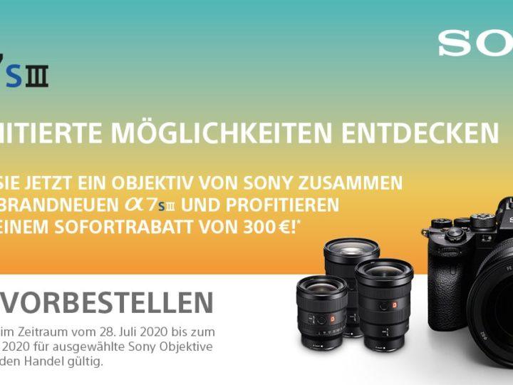 Sony Sofortrabatt A7s III mit GM-Objektiv