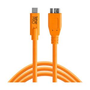 Tether Tools TetherPro USB-C Kabel - USB-C auf USB 3.0 Micro-B : Orange