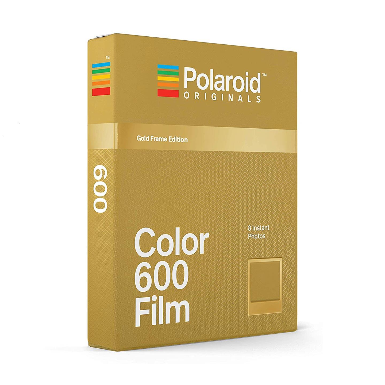 Polaroid 600 Color Sofortbildfilm : Gold Frame - 8 Aufnahmen