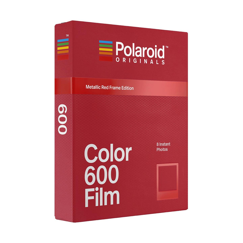 Polaroid 600 Color Sofortbildfilm : Metallic Red - 8 Aufnahmen