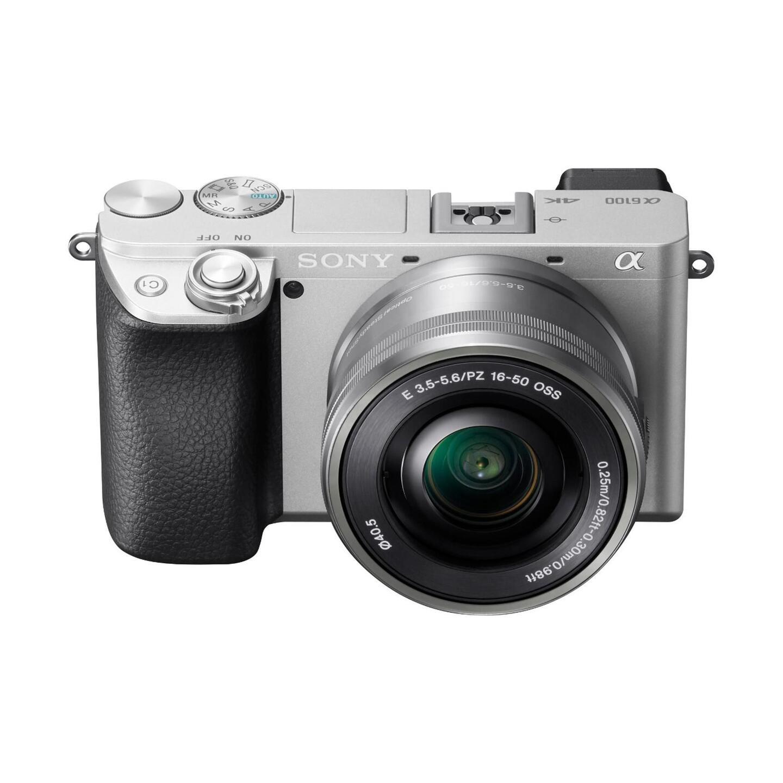 Sony Alpha 6100 + E PZ 16-50mm OSS : Silber