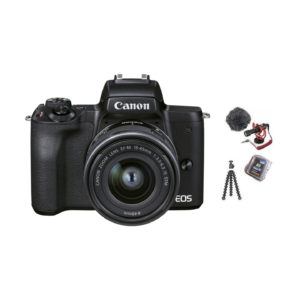 Canon EOS M50 Mark II Vlogger Kit + EF-M 15-45mm : Schwarz