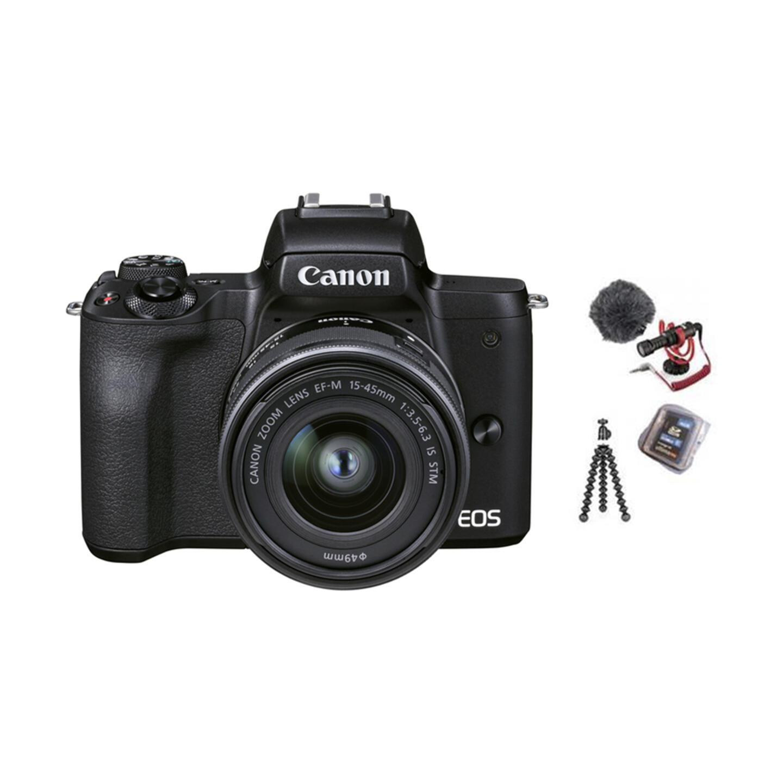 Canon EOS M50 Mark II Vlogger Kit + EF-M 15-45mm : Schwarz