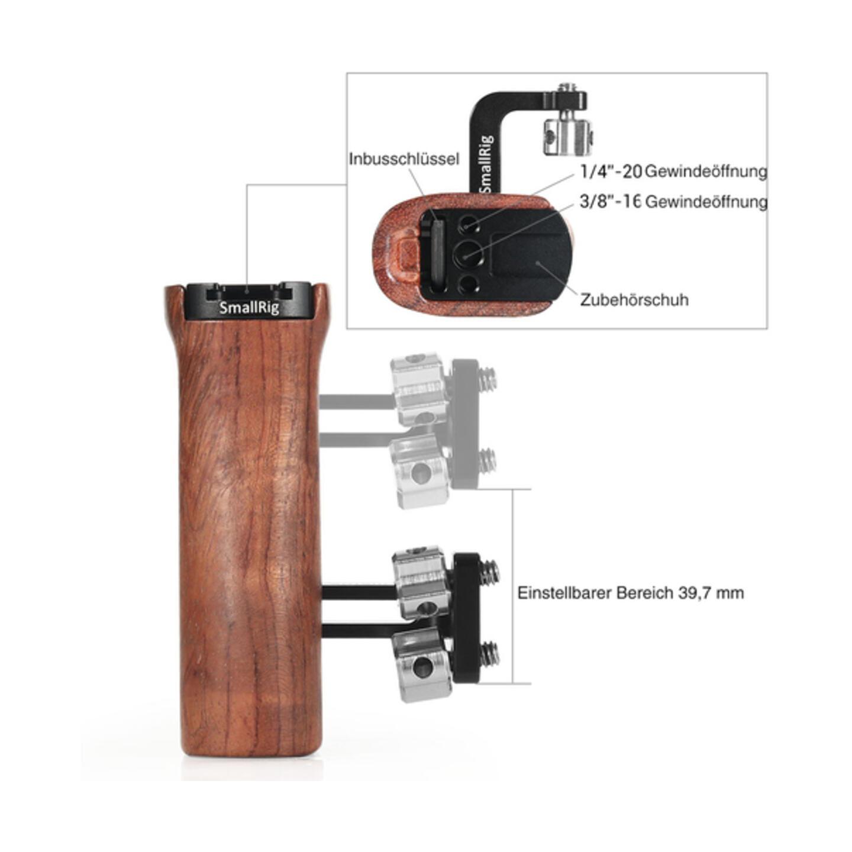 SmallRig 2093 Universal-Seitgriff aus Holz