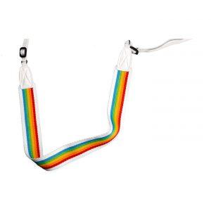 Polaroid Kameragurt flach : Regenbogen-Weiß